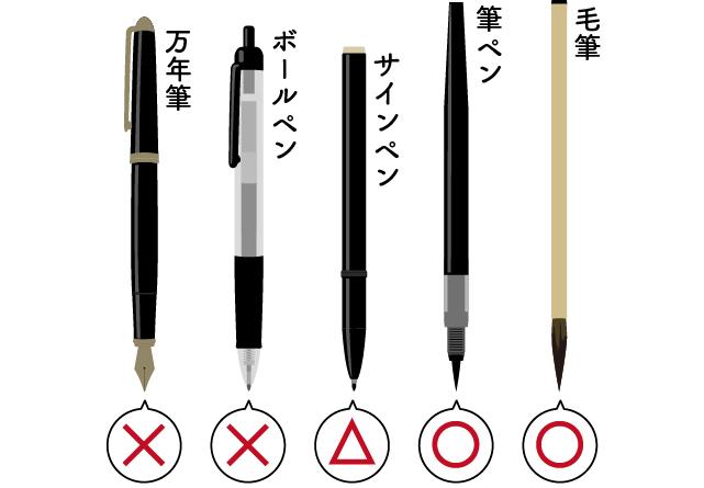 でも、特に年配の人などは、「毛筆で書くのが当然」と思っている人も多いので、できれば筆ペンで丁寧に書いた方が無難です。