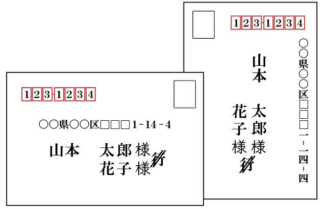 返信はがきの宛名が連名だった(新郎新婦両名の名前が書かれている)場合は、「行」を斜め二重線で消し「様」はそれぞれの名前の下に付けます。