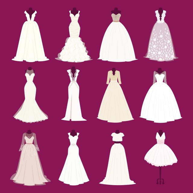 3fd034b7a6e94 ウェディングドレスの基礎知識① シルエットデザイン(ライン) | 結婚 ...
